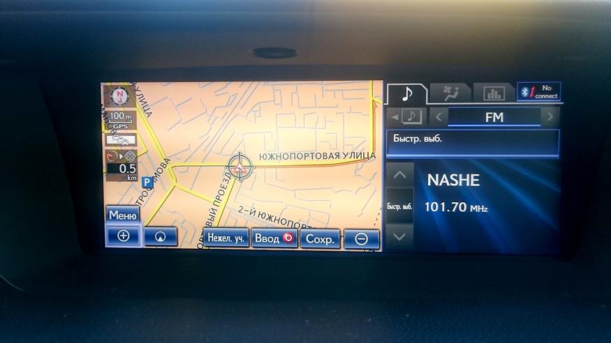 Обновление навигации Lexus ES (2012-2015)